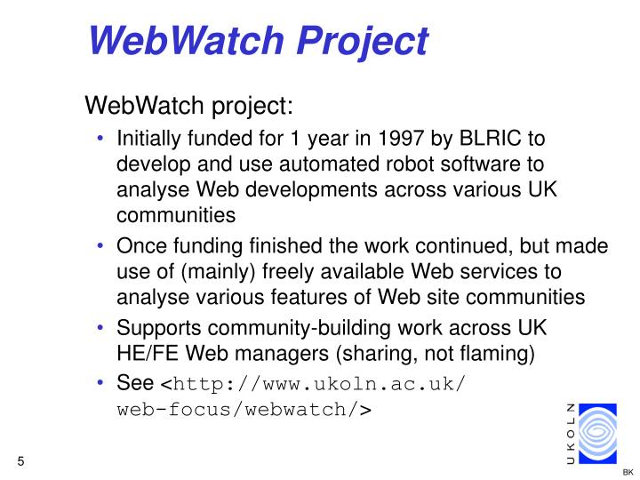 WebWatch Project