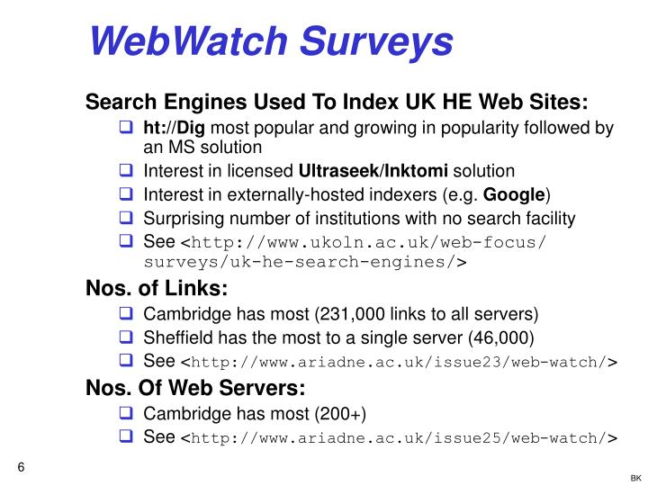 WebWatch Surveys