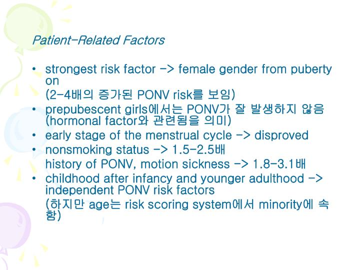 Patient-Related Factors