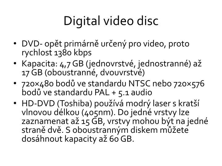 Digital video disc