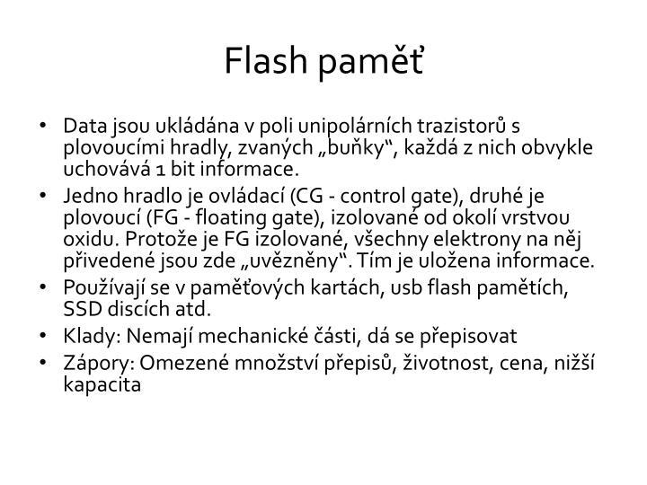 Flash paměť
