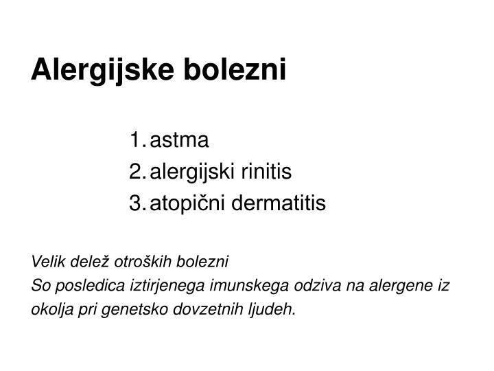 Alergijske bolezni