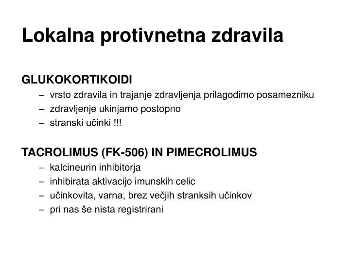Lokalna protivnetna zdravila