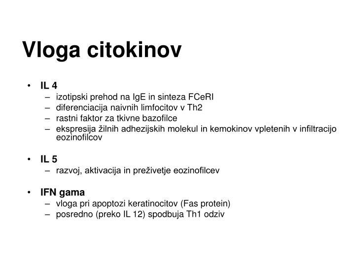 Vloga citokinov