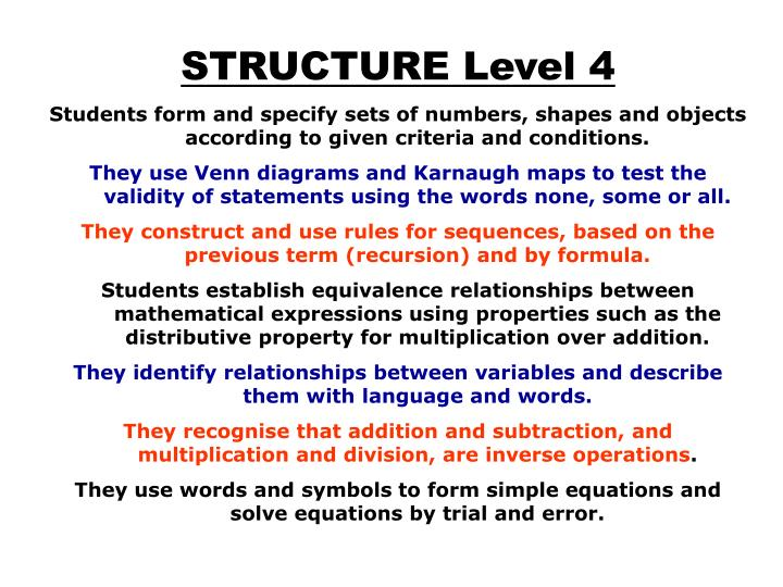 STRUCTURE Level 4