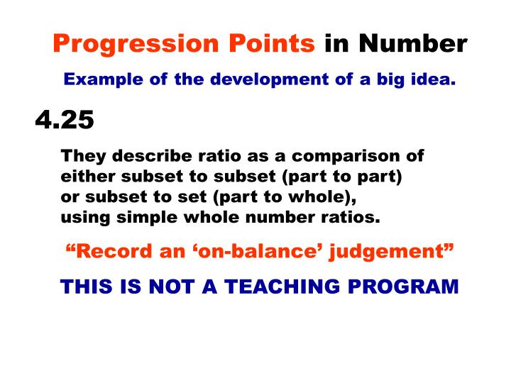 Progression Points