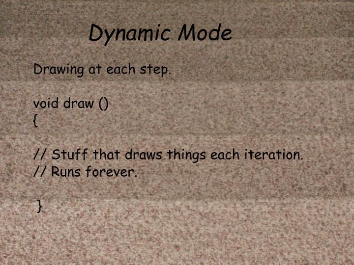 Dynamic Mode