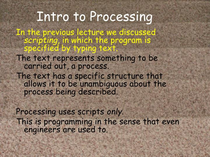 Intro to processing
