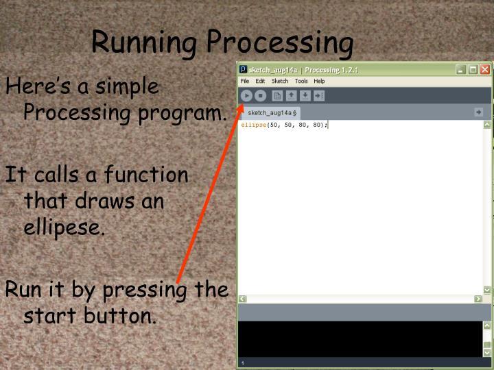Running Processing