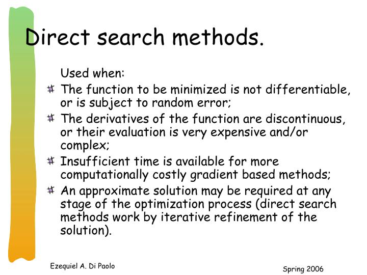 Direct search methods.