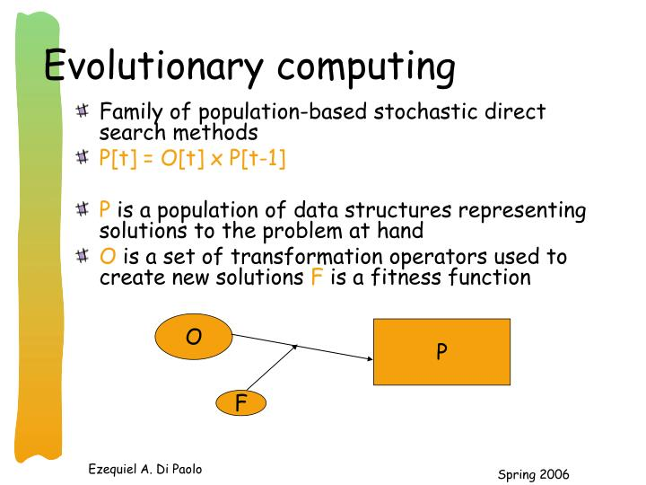 Evolutionary computing1