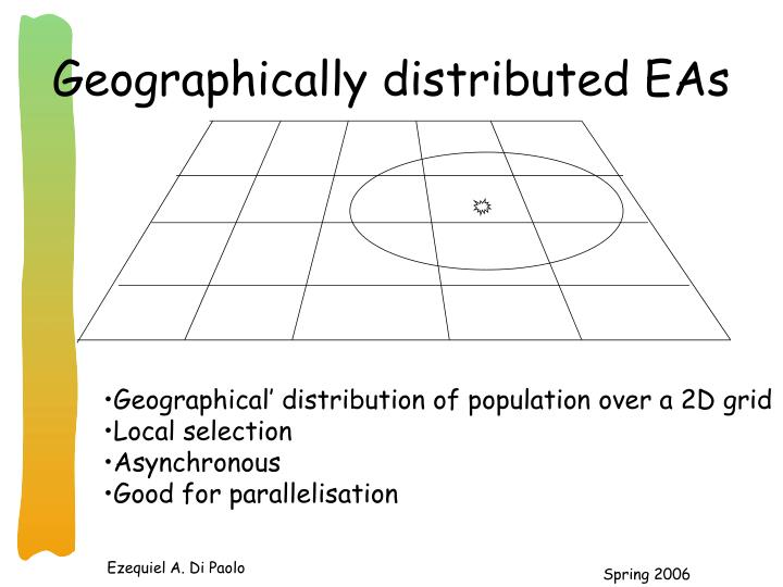 Geographically distributed EAs
