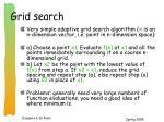 grid search