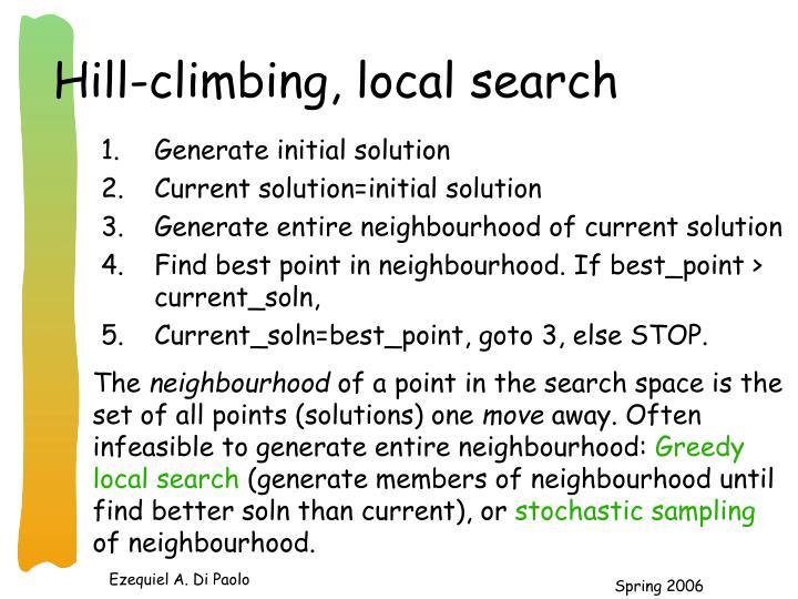Hill-climbing, local search