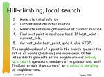 hill climbing local search