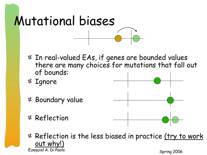 Mutational biases