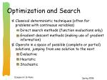 optimization and search