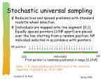 stochastic universal sampling