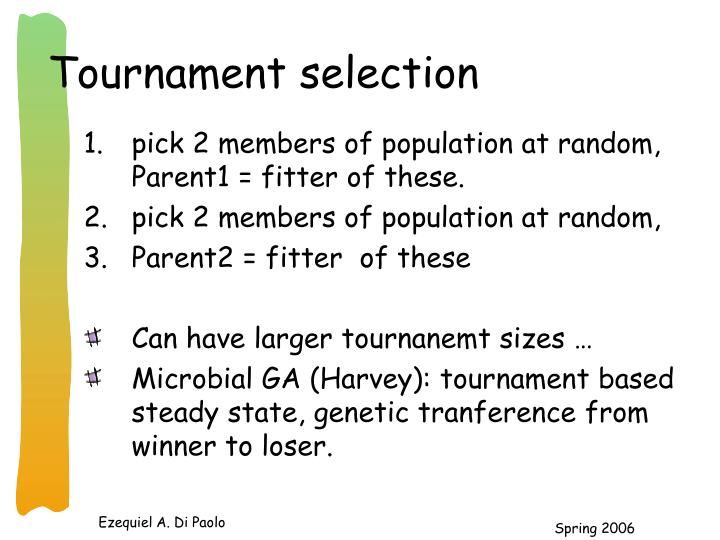 Tournament selection