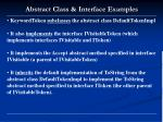 abstract class interface examples1