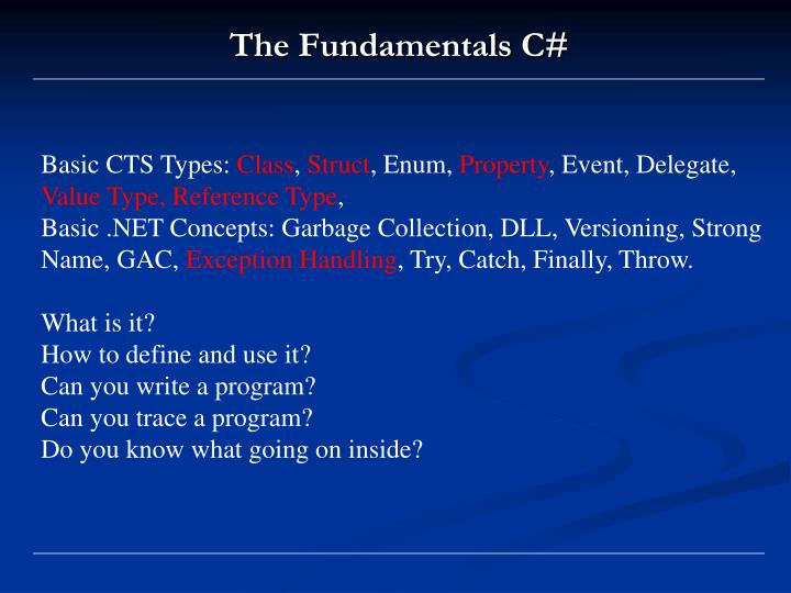 Basic CTS Types: