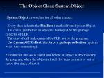 the object class system object