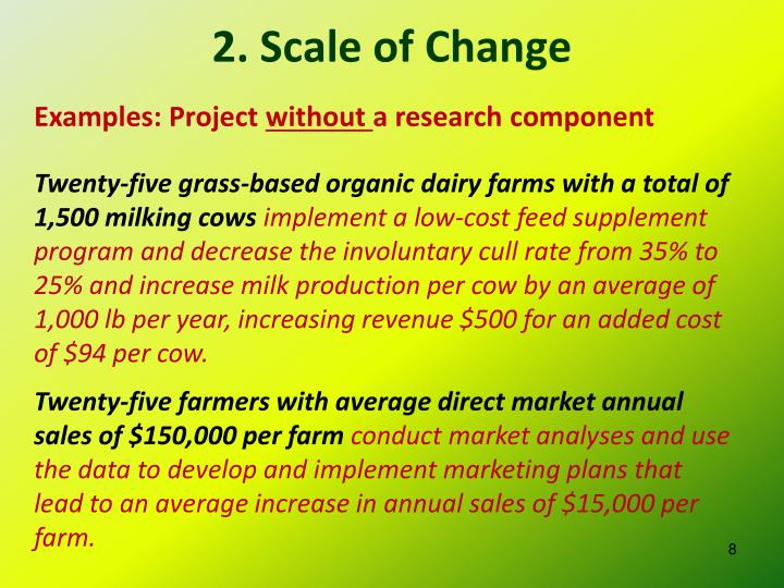 2. Scale of Change