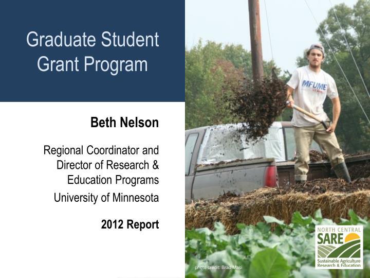 Graduate Student Grant Program