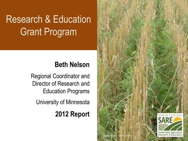 Research & Education Grant Program