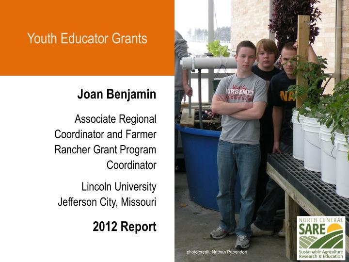 Youth Educator Grants