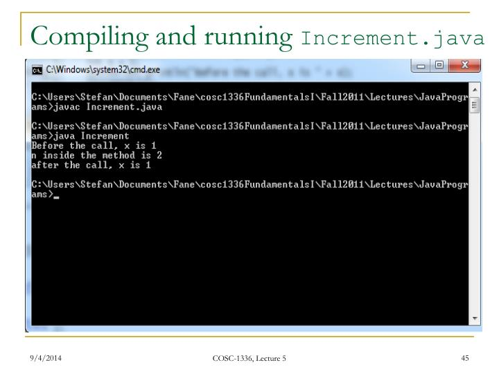 Compiling and running