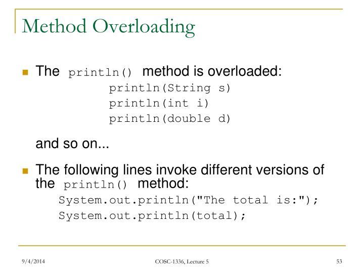 Method Overloading