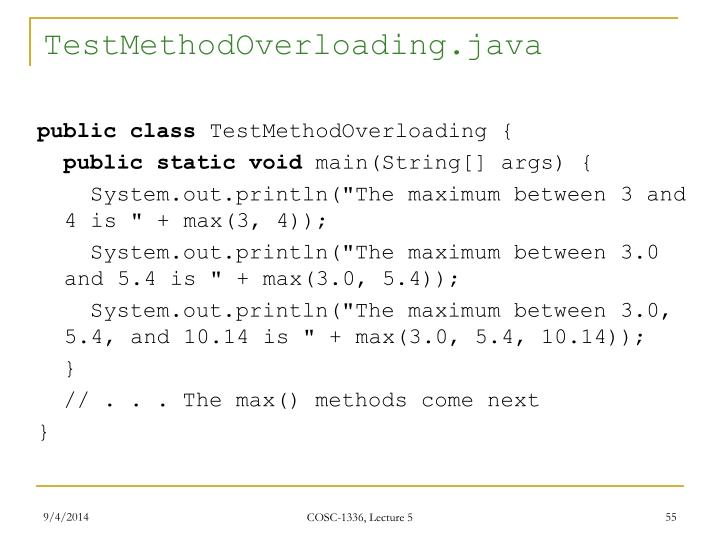 TestMethodOverloading.java