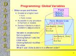 programming global variables
