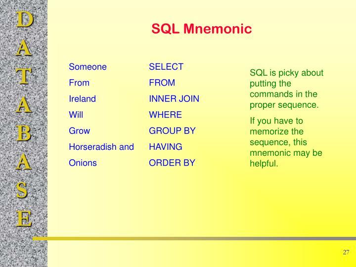 SQL Mnemonic