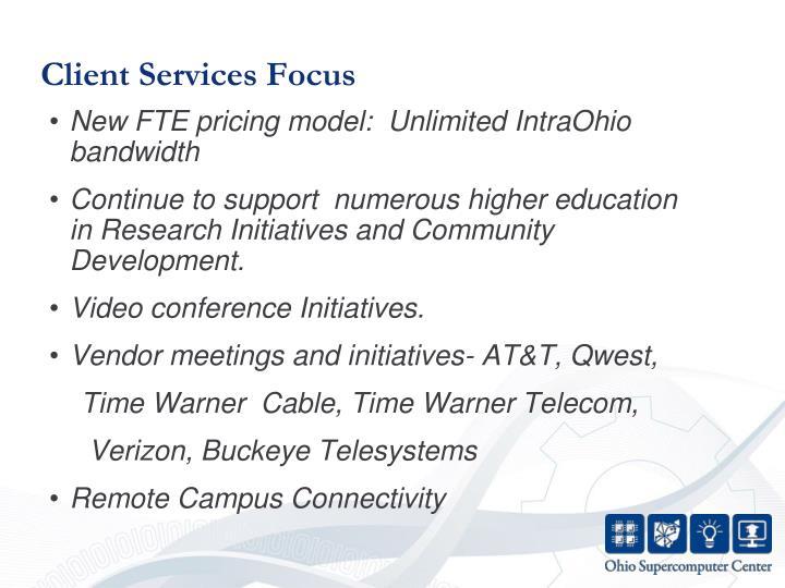 Client Services Focus