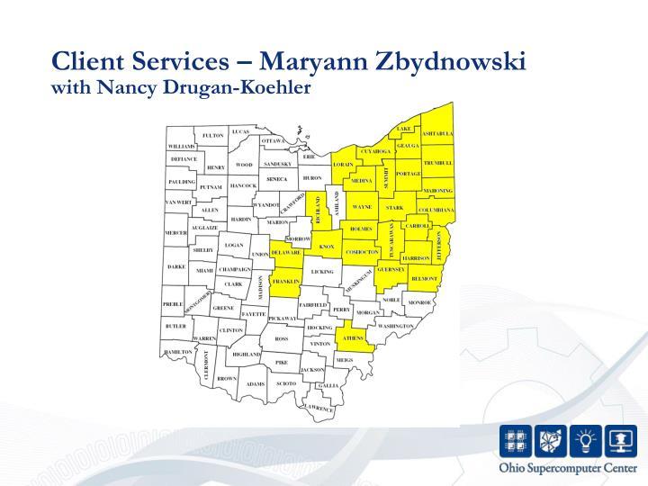 Client Services – Maryann Zbydnowski