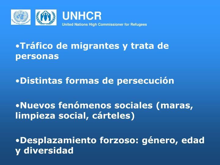 Tráfico de migrantes y trata de personas