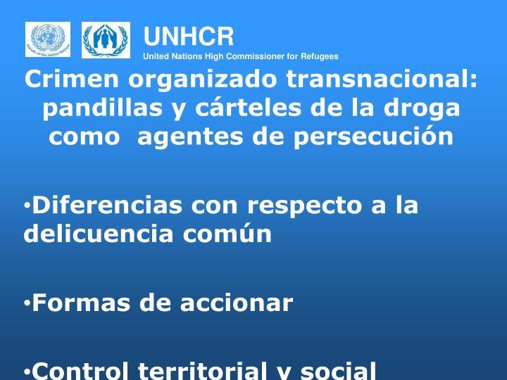 Crimen organizado transnacional: pandillas y cárteles de la droga como  agentes de persecución