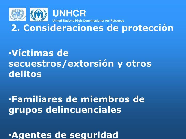 2. Consideraciones de protección
