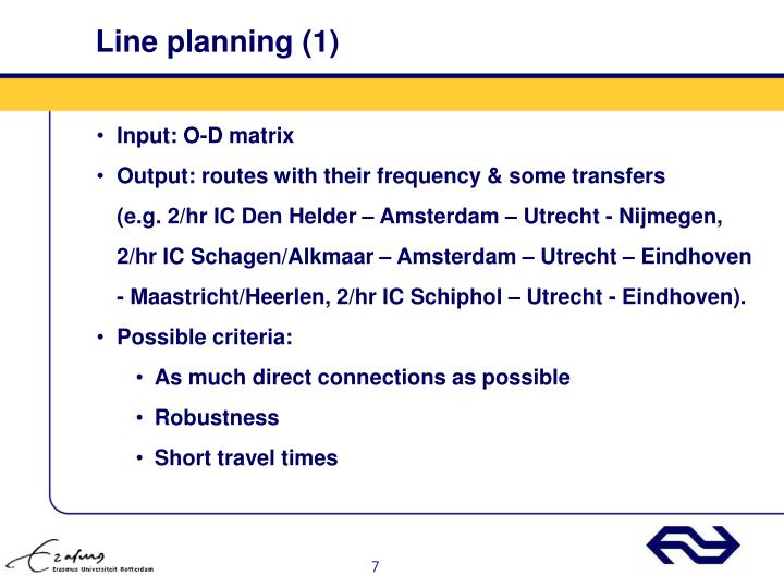 Line planning (1)