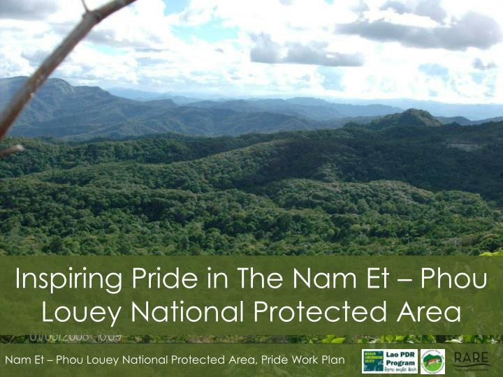 Inspiring Pride in The Nam Et – Phou Louey National Protected Area