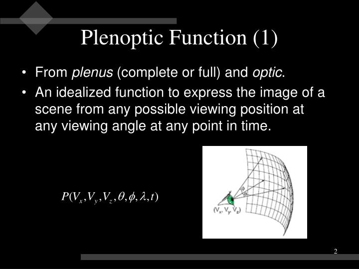 Plenoptic Function (1)