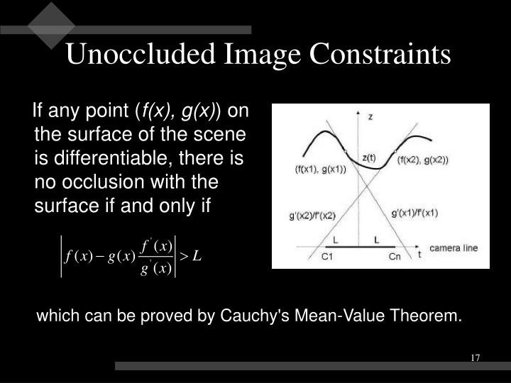 Unoccluded Image Constraints