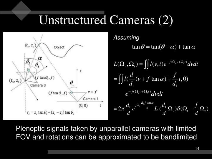 Unstructured Cameras (2)