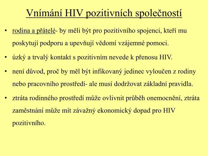 Vnímání HIV pozitivních společností