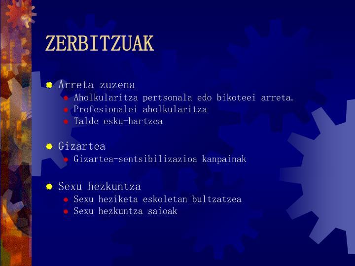 ZERBITZUAK