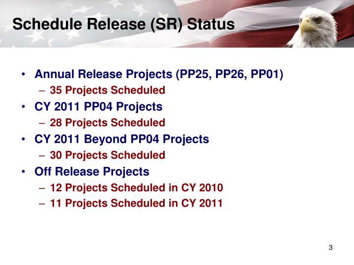 Schedule Release (SR) Status