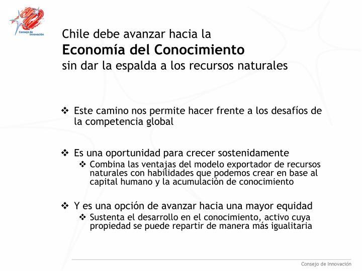 Chile debe avanzar hacia la