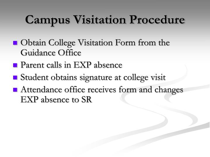 Campus Visitation Procedure